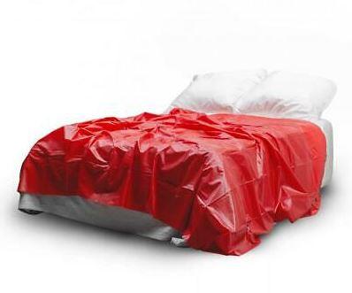 Bettlaken Spielwiese red